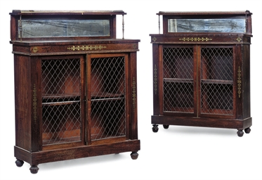 A PAIR OF REGENCY ROSEWOOD CHI