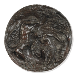 A LATE VICTORIAN BRONZE RELIEF