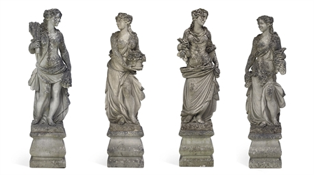 A SET OF FOUR VICENZA LIMESTON