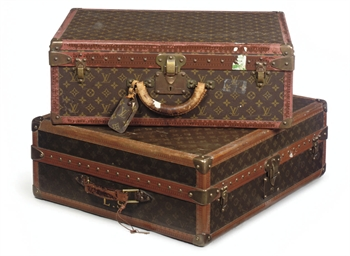 TWO LOUIS VUITTON TRAVELLING C