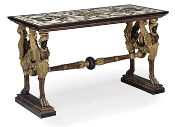 AN ITALIAN INLAID AND PARCEL-G