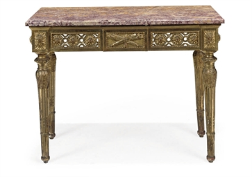 A NORTH ITALIAN GILTWOOD CONSO
