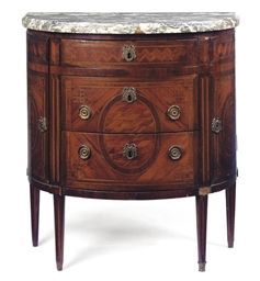 A LOUIS XVI MAHOGANY AND TULIP