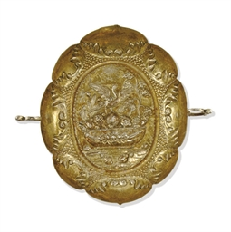 A GERMAN PARCEL-GILT SILVER SW