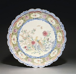 A LARGE CANTON ENAMEL TRAY