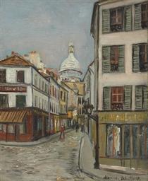 Rue Norvins et Sacré Coeur