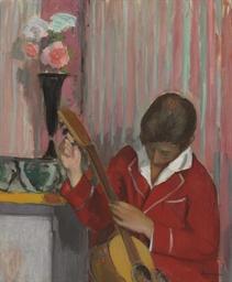 Pierre Lebasque jouant de la g