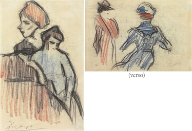 Deux femmes (recto and verso)