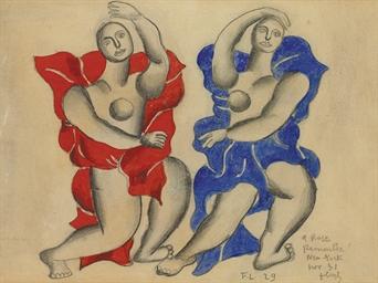 Deux femmes drapées