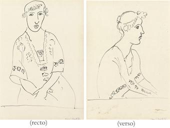 Femme assise de face, bras cro