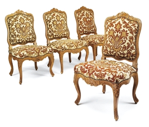 A SET OF FOUR EARLY LOUIS XV B