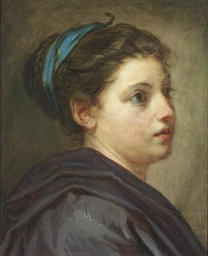 A head study of a young lady w