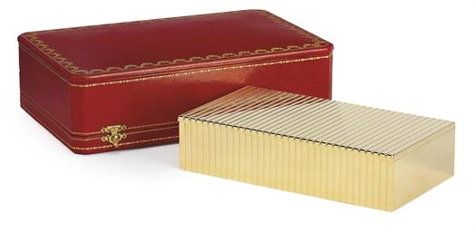 A FRENCH GOLD CIGARETTE-BOX