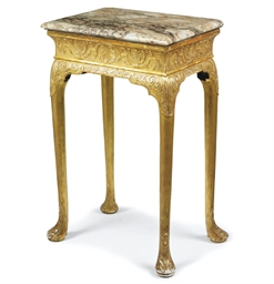 A QUEEN ANNE GILT-GESSO STAND