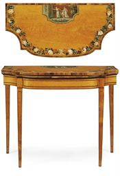 A GEORGE III SATINWOOD AND POL