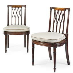 A PAIR OF REGENCY MAHOGANY SID