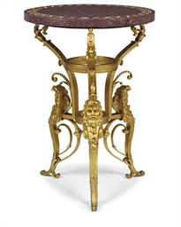 A RESTAURATION ORMOLU-MOUNTED