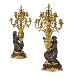 A PAIR OF NAPOLEON III ORMOLU,