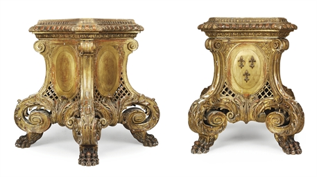 A PAIR OF LARGE REGENCE STYLE