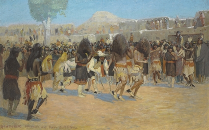 Dance at San Ildefonso Pueblo,