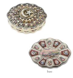 A SWISS GOLD, ENAMEL AND GEM-S