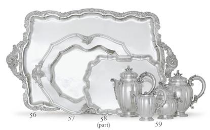 AN ITALIAN SILVER TEA TRAY
