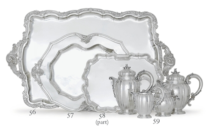 TWO ITALIAN SILVER TRAYS