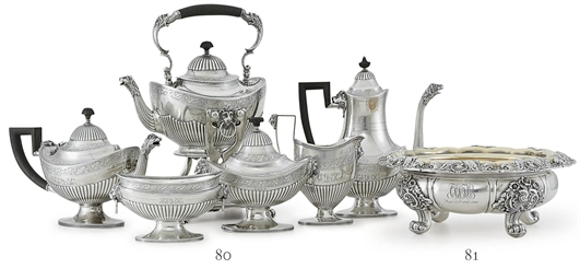 AN AMERICAN SILVER SIX-PIECE T