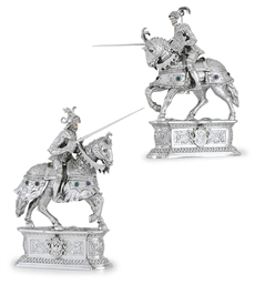 A PAIR OF GERMAN SILVER JOUSTI