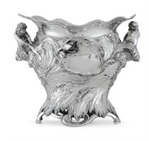 A GERMAN SILVER ART NOUVEAU WINE COOLER