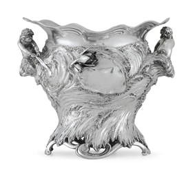 A GERMAN SILVER ART NOUVEAU WI