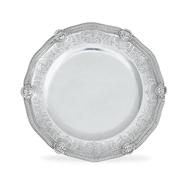 A LOUIS XV SILVER DINNER PLATE