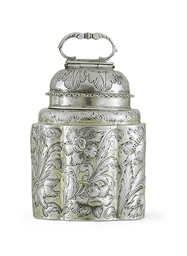 A GERMAN PARCEL-GILT SILVER CA