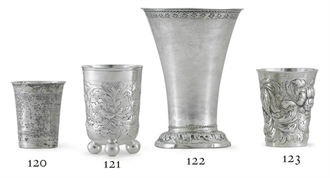 A GERMAN SILVER BEAKER