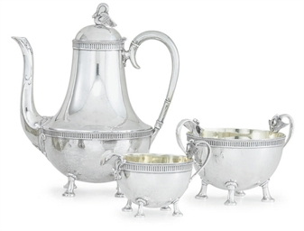 A VICTORIAN THREE-PIECE SILVER