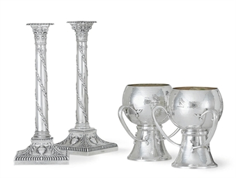 A PAIR OF EDWARD VII SILVER LO