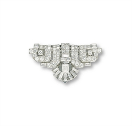 A DIAMOND CLIP, BY CARTIER
