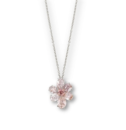 A COLOURED DIAMOND PENDENT NEC