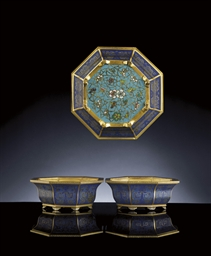 A PAIR OF FINE CLOISONNE ENAME