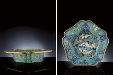A MASSIVE AND RARE CLOISONNE E