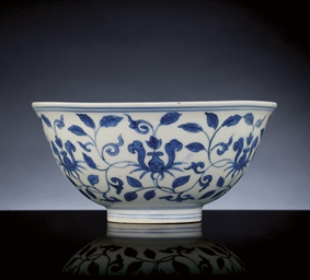 A LATE MING BLUE AND WHITE 'PA