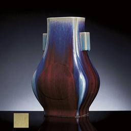 A FLAMBE-GLAZED VASE, FANGHU