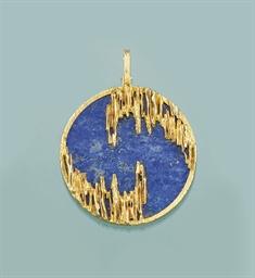 A lapis lazuli pendant, by Kut