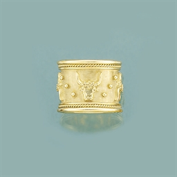 An astrological gold ring, by