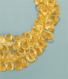 A citrine torsade necklace