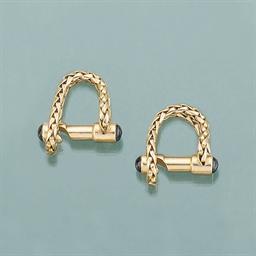 A pair of sapphire set cufflin