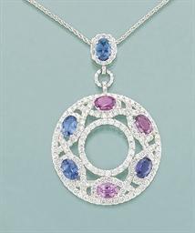 A sapphire, coloured sapphire
