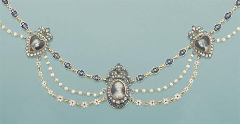A 19th century diamond and pai