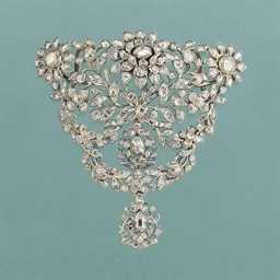An 18th century rose-cut diamo