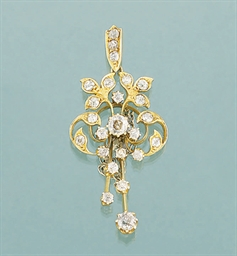 A late Victorian diamond penda